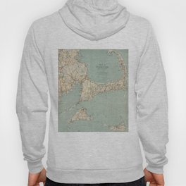 Vintage Map of Cape Cod (1917) Hoody