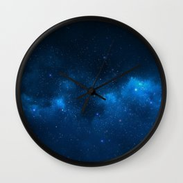 Fascinating view of the blue cosmic sky Wall Clock
