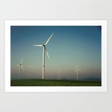 Windmills in the Sun Art Print