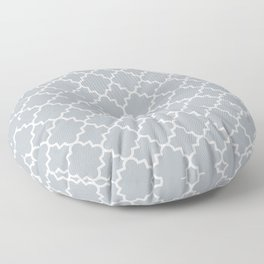 Classic Quatrefoil pattern, silver grey Floor Pillow