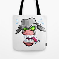donkey Tote Bags featuring Donkey by Keyspice