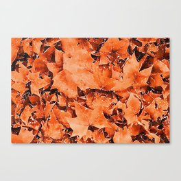 Autumnal leaves watercolor painting #5 Canvas Print
