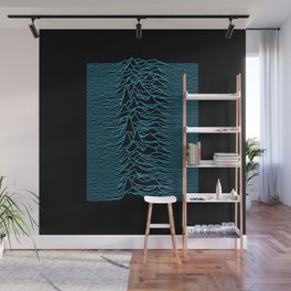 Joy Division - Unknown Pleasures [Blue Lines] Wall Mural