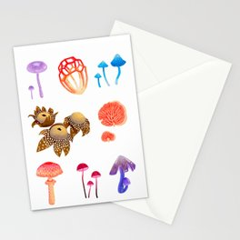 Mystical Mushrooms - a collection of toadstools Stationery Cards