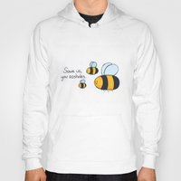 bees Hoodies featuring Bees!!! by AbelleArt