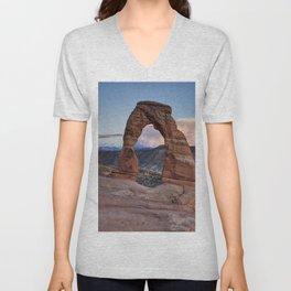 Delicate Arch Utah Unisex V-Neck