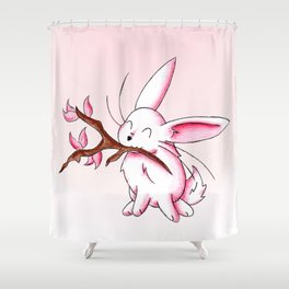 Bunny Blossoms Shower Curtain
