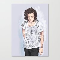 coconutwishes Canvas Prints featuring Harry 1D tattoos T-shirt by Coconut Wishes
