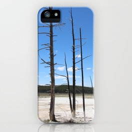 Surreal trees iPhone Case