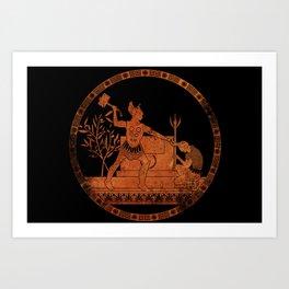 Greek Style Thor Art Print