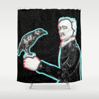poe Shower Curtains featuring Poe by Beastie Toyz
