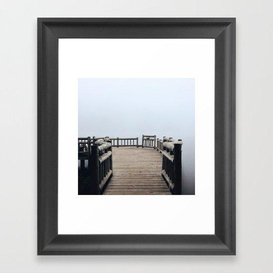 Fog Walk Framed Art Print