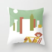 central park Throw Pillows featuring Central Park by Szoki
