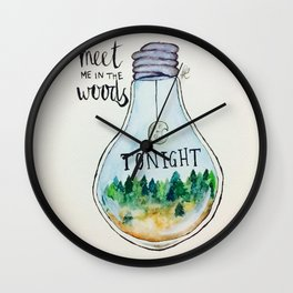 "Lord Huron lyrics ""Meet me in the woods tonight."" Wall Clock"