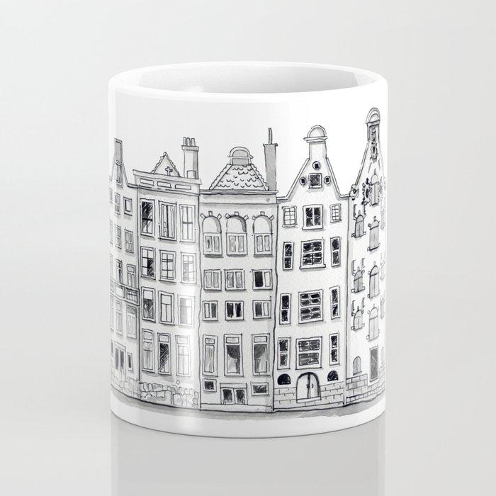 Amsterdam Canal Houses Sketch Coffee Mug
