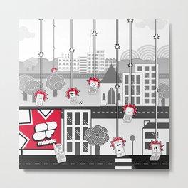 SF Mobile World Metal Print