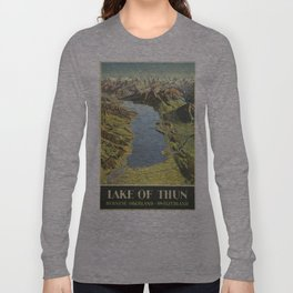 Vintage poster - Lake of Thun Long Sleeve T-shirt