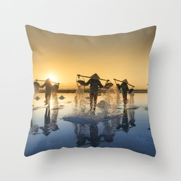 Vietnam Salt Throw Pillow