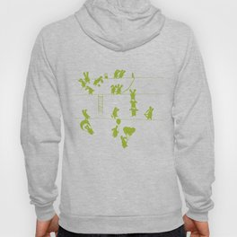 Green Bunnies Hoody