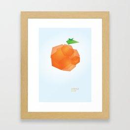 ORANGE DUST Framed Art Print