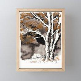 Black and Gold Birch Framed Mini Art Print