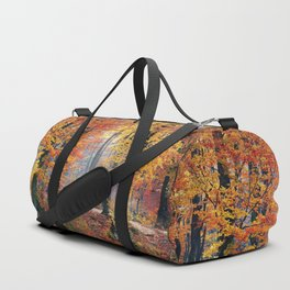 Colorful Autumn Fall Forest Duffle Bag