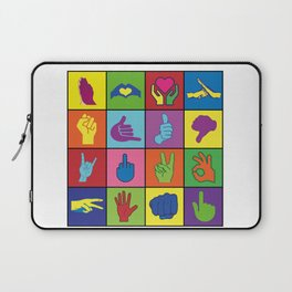 Hand Signs Rubik by DeLaFont Laptop Sleeve