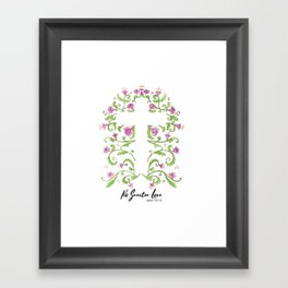 No Greater Love Floral Cross Framed Art Print