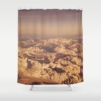 looking for alaska Shower Curtains featuring Somewhere Over Alaska by Alaskan Momma Bear