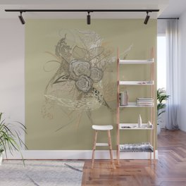 50 Shades of lace Gold Gold Wall Mural