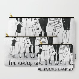 Every Woman Fashion Illustration Art Print Carry-All Pouch