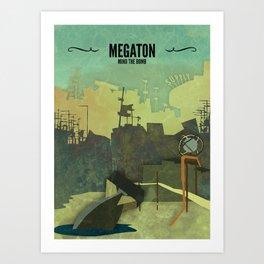 Megaton // Fallout 3 Poster, Fallout Print, Video Game Art, Gamer Print Art Print