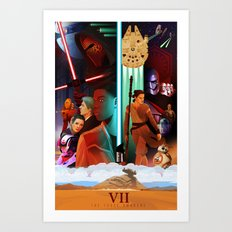 The Force Awakens Poster 2 Art Print