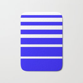 Blue and White Graduated Stripes Bath Mat