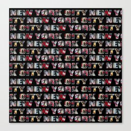 New York City (typography) Canvas Print