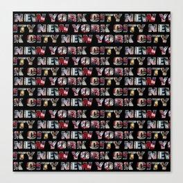 New York City (typography) Canvas Print