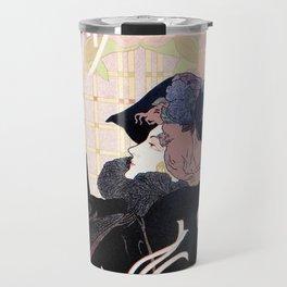 1899 Art nouveau auction journal ad Travel Mug