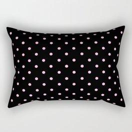 Dotted (Pink & Black Pattern) Rectangular Pillow