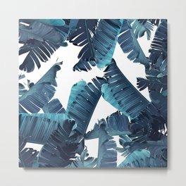 Banana Blue Metal Print