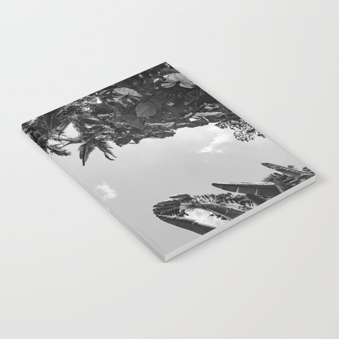 Rainforest Canopy - Tropical Sky Black and White Notebook