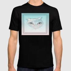 cotton candy Mens Fitted Tee Black MEDIUM