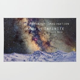 """""""The Power of Imagination Makes us Infinite"""" Rug"""