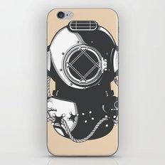 Monterey California USA vintage Diving travel poster iPhone & iPod Skin