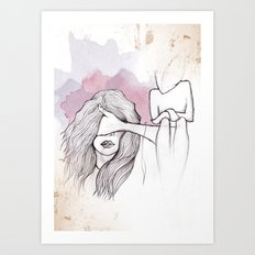 Faceless Fear Art Print