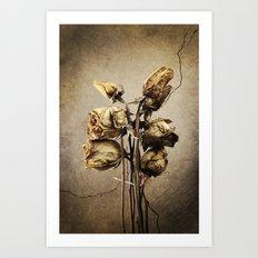 Dead Roses Art Print
