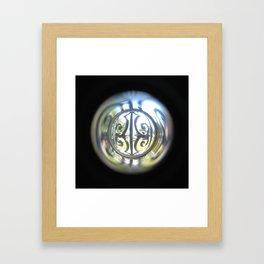 Through the Peephole Framed Art Print