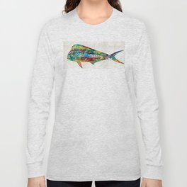 Colorful Dolphin Fish by Sharon Cummings Long Sleeve T-shirt