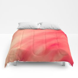 Pink Coral Love Abstract Comforters