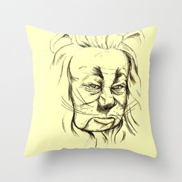 Lion - Yellow Pathway Throw Pillow