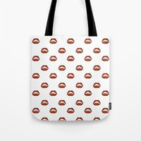 mouth Tote Bags featuring Mouth by Eva Martin